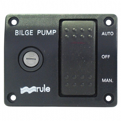 Rule 12v 3-Way Lighted Rocker Switch